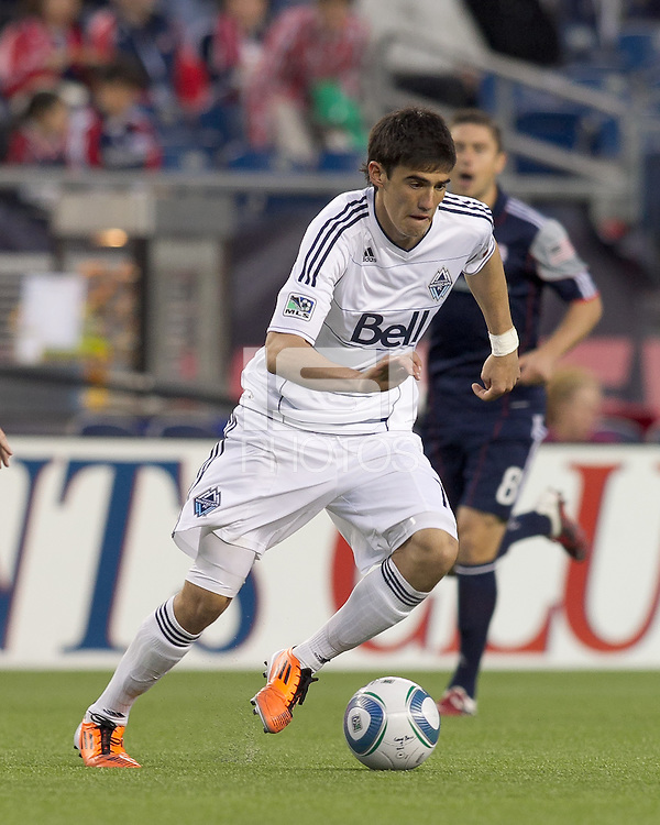 Vancouver Whitecaps FC forward Omar Salgado (17). In a Major League Soccer (MLS) match, the New England Revolution defeated the Vancouver Whitecaps FC, 1-0, at Gillette Stadium on May14, 2011.