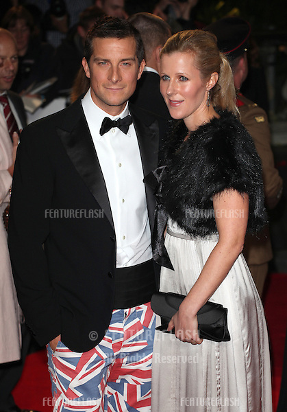 Bear Grylls and wife arriving for the Royal World Premiere of 'Skyfall' at Royal Albert Hall, London. 23/10/2012 Picture by: Alexandra Glen / Featureflash
