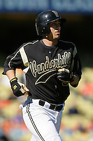 February 28 2010: Andrew Giobbi of Vanderbilt  during game against Oklahoma State at Dodger Stadium in Los Angeles,CA.  Photo by Larry Goren/Four Seam Images