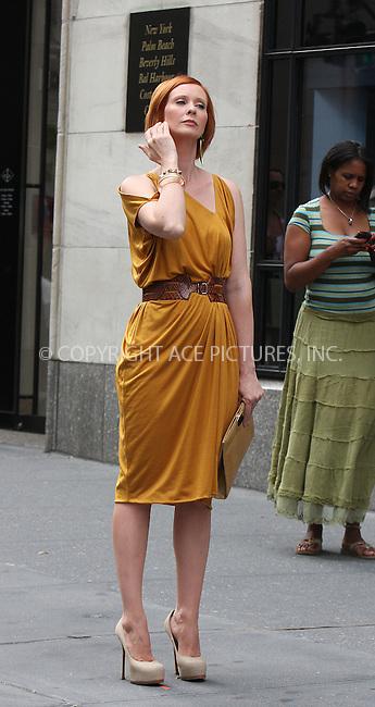 WWW.ACEPIXS.COM . . . . .  ....September 9 2009, New York City....Actress Cynthia Nixon on the set of the new 'Sex and the City' movie on September 9 2009 in New York City....Please byline: AJ Sokalner - ACEPIXS.COM..... *** ***..Ace Pictures, Inc:  ..tel: (212) 243 8787..e-mail: info@acepixs.com..web: http://www.acepixs.com
