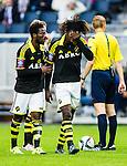 ***BETALBILD***  <br /> Stockholm 2015-07-30 Fotboll Kval Uefa Europa League  AIK - Atromitos FC :  <br /> AIK:s Mohamed Bangura deppar under matchen mellan AIK och Atromitos FC <br /> (Foto: Kenta J&ouml;nsson) Nyckelord:  AIK Gnaget Tele2 Arena UEFA Europa League Kval Kvalmatch Atromitos FC Grekland Greece depp besviken besvikelse sorg ledsen deppig nedst&auml;md uppgiven sad disappointment disappointed dejected