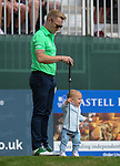 Irelands Ronan Keating with his son Copper <br /> <br /> Golf - Day 2 - Celebrity Cup 2018 - Saturday 1st July 2018 - Celtic Manor Resort  - Newport<br /> <br /> &copy; www.sportingwales.com- PLEASE CREDIT IAN COOKCelebrity Cup 2018<br /> Celtic Manor Resort<br /> 01.07.18<br /> &copy;Steve Pope <br /> Fotowales