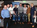 Brian Wogan, Paddy Dunne, John Lane, Michael Loughran, Nicholas Tallon, Peter Rooney,May McAdam and James Smith at the Slane GFC grand draw night at Dolly Mitchells. Photo:Colin Bell/pressphotos.ie
