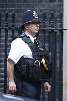 Policeman in Downing Street<br /> Theresa May leaves Downing Street toay is facing the Commons for the first time since the EU rejected her Brexit plan, amid mounting pressure from some Tory MPs to change course.<br /> A week before a crucial meeting of EU leaders, the prime minister shows no sign of abandoning her proposals.<br /> Former Brexit Secretary David Davis has warned of &quot;dire&quot; electoral consequences for the party if she persists with her model for trade with the EU.<br /> But ministers say the UK and the EU are &quot;closing in on workable solutions&quot;.<br /> Health Secretary Matt Hancock told BBC Radio 4's Today the &quot;whole nation&quot; should get behind Theresa May as she strove to get the best deal for the country in &quot;difficult circumstances&quot;.<br /> London, England, UK on October 10, 2018.<br /> CAP/GOL<br /> &copy;GOL/Capital Pictures