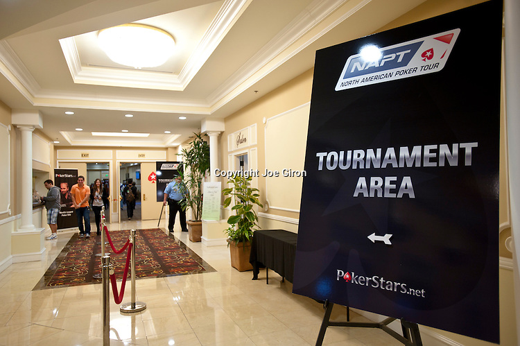 The entrance to the NAPT tournament area at the Bicycle Casino