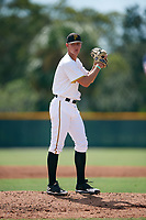 Pittsburgh Pirates pitcher Blake Weiman (31) gets ready to deliver a pitch during an Instructional League intrasquad game on October 11, 2017 at Pirate City in Bradenton, Florida.  (Mike Janes/Four Seam Images)