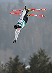 16 January 2009: Ryan Blais from Canada performs aerial acrobatics during the FIS Freestyle World Cup warm-ups at the Olympic Ski Jumping Facility in Lake Placid, NY, USA. Mandatory Photo Credit: Ed Wolfstein Photo. Contact: Ed Wolfstein, Burlington, Vermont, USA. Telephone 802-864-8334. e-mail: ed@wolfstein.net