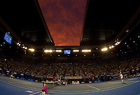 Sunset over Rod Laver Arena as Andy Murray (GBR) (5) against Roger Federer (SUI) (1) in the Final of the Mens Singles. Federer beat Murray 6-3 6-4 7-6..International Tennis - Australian Open Tennis - Sunday 31 Jan 2010 - Melbourne Park - Melbourne - Australia ..© Frey - AMN Images, 1st Floor, Barry House, 20-22 Worple Road, London, SW19 4DH.Tel - +44 20 8947 0100.mfrey@advantagemedianet.com