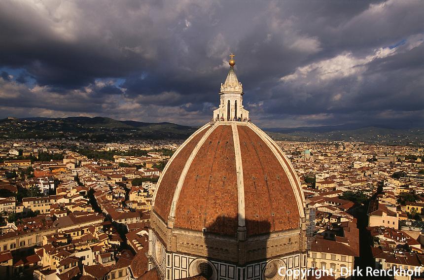 Blick von Campanile auf den Dom, Florenz, Toskana, Italien, Unesco-Weltkulturerbe