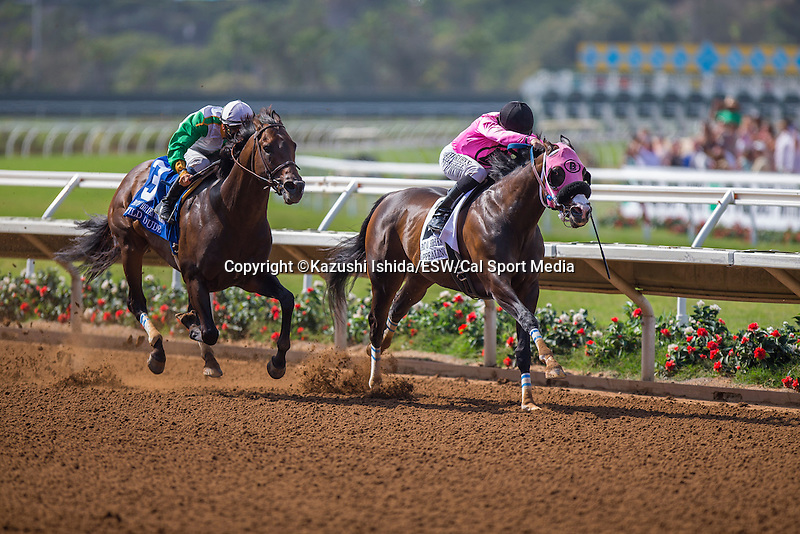AUG 22 ,2015: Appealing Pont,ridden by Joseph Talamo,wins the Pat O'Brien Stakes at Del Mar Race Track in Del Mar,CA. Kazushi Ishida/ESW/CSM