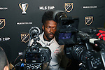 08 December 2016: Toronto's Tosaint Ricketts. Toronto FC held a training session at the Kia Training Ground in Toronto, Ontario in Canada two days before playing in MLS Cup 2016.