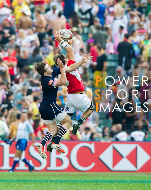 Scotland vs Portugal during the HSBC Sevens Wold Series match of the Cathay Pacific / HSBC Hong Kong Sevens at the Hong Kong Stadium on 28 March 2015 in Hong Kong, China. Photo by Juan Manuel Serrano / Power Sport Images