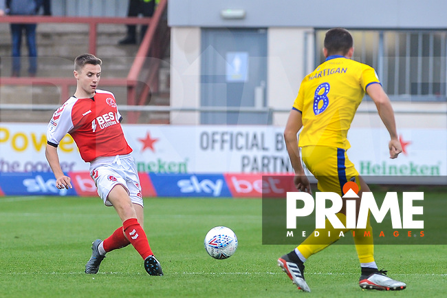 Fleetwood Town's midfielder Jordan Rossiter (16) during the Sky Bet League 1 match between Fleetwood Town and AFC Wimbledon at Highbury Stadium, Fleetwood, England on 10 August 2019. Photo by Stephen Buckley / PRiME Media Images.