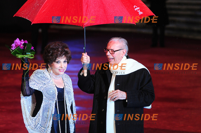 Third edition of the Rome International film festival<br /> Gina Lollobrigida Gian Luigi Rondi<br /> Roma 31/10/2008<br /> Photo Luca Cavallari Insidefoto