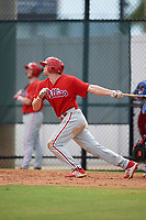 Philadelphia Phillies Zach Green (25) at bat during an Instructional League game against the Toronto Blue Jays on September 30, 2017 at the Carpenter Complex in Clearwater, Florida.  (Mike Janes/Four Seam Images)