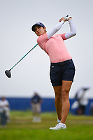 Azahara Munoz (ESP) watches her tee shot on 2 during round 4 of the KPMG Women's PGA Championship, Hazeltine National, Chaska, Minnesota, USA. 6/23/2019.<br /> Picture: Golffile | Ken Murray<br /> <br /> <br /> All photo usage must carry mandatory copyright credit (© Golffile | Ken Murray)