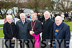 At the official opening of the extension to the Blessed well in Ballyheigue last Saturday morning were L-R Fr Brendan Walsh, PP Causeway, Michael Sheehy, parish clerk, his Excellency Archbishop Charles Brown, Papal Nuncio to Ireland, Ray Browne, bishop of Kerry and Fr Liam Comer, PP Ballyheigue.
