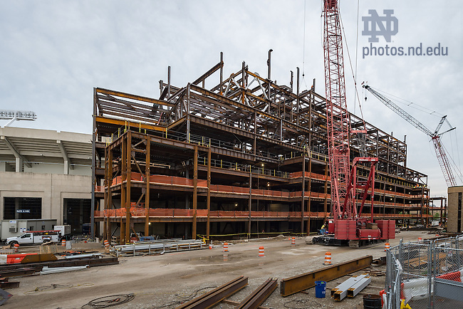 Jul. 8, 2015; Corbett Family Hall under construction. (Photo by Matt Cashore/University of Notre Dame)