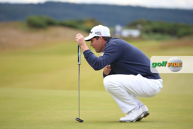 Padraig Harrington (IRL) in action during Round Two of the 2016 Aberdeen Asset Management Scottish Open, played at Castle Stuart Golf Club, Inverness, Scotland. 08/07/2016. Picture: David Lloyd   Golffile.<br /> <br /> All photos usage must carry mandatory copyright credit (&copy; Golffile   David Lloyd)