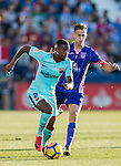 Nelson Cabral Semedo (l) of FC Barcelona is followed by Alexander Szymanowski of CD Leganes during the La Liga 2017-18 match between CD Leganes vs FC Barcelona at Estadio Municipal Butarque on November 18 2017 in Leganes, Spain. Photo by Diego Gonzalez / Power Sport Images