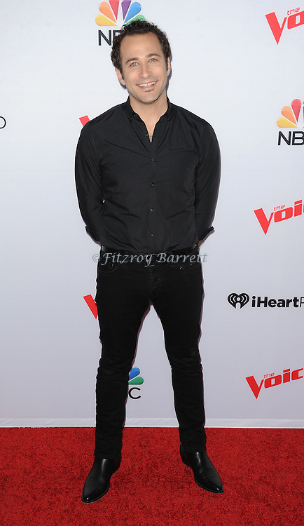Joshua Davis arriving NBC's The Voice Season 8 Red Carpet Event held at the Pacific Design Center Los Angeles CA. April 23, 2015