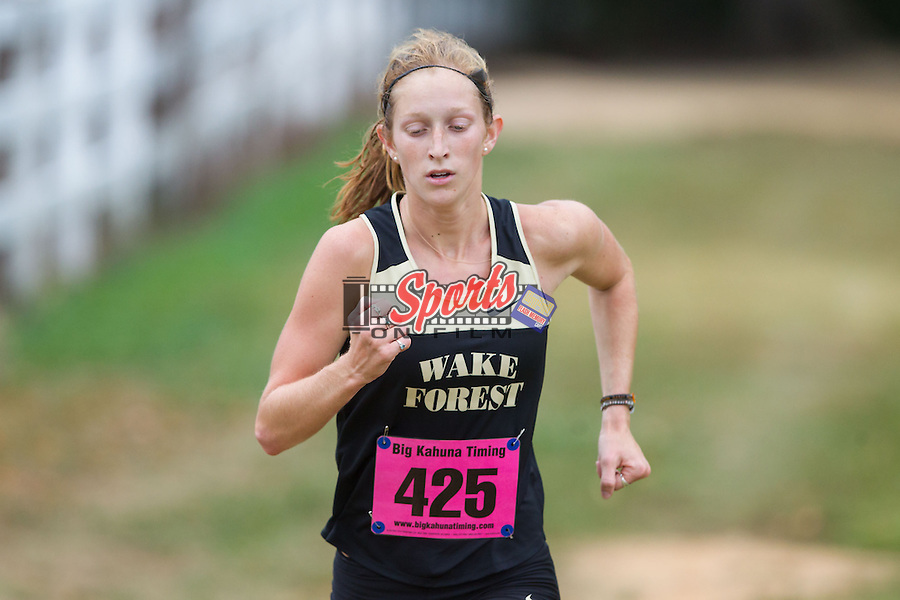 The Wake Forest Demon Deacons women's cross country team played host at the Wake Forest Invitational at Beeson Park on September 20, 2013 in Kernersville, North Carolina.  (Brian Westerholt/Sports On Film)