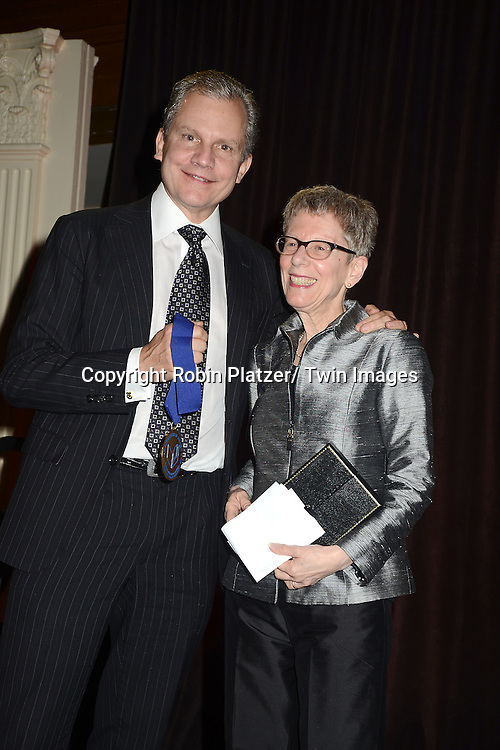 honoree Arthur O. Sulzberger, Jr and Terry Gross  attend the 2012 National Book Awards Dinner and Ceremony on November 14, 2012 at Cipriani Wall Street in New York City.