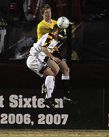Jason Herrick #9 of the University of Maryland loses the ball to Brendan Birmingham #28 of Penn State during an NCAA 3rd. round match at Ludwig Field, University of Maryland, College Park, Maryland on November 28 2010.Maryland won 1-0.