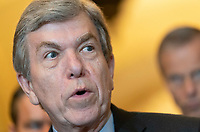 United States Senator Roy Blunt (Republican of Missouri) speaks to the media Capitol Hill in Washington, DC, May 14, 2019. Credit: Chris Kleponis / CNP/AdMedia