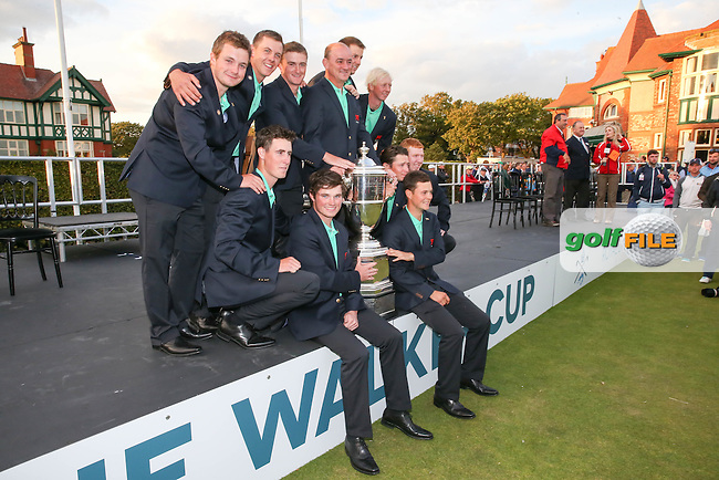 GB&amp;Ireland win The Walker Cup 2015 played at Royal Lytham and St Anne's, Lytham St Anne's, Lancashire, England. 13/09/2015. Picture: Golffile | David Lloyd<br /> <br /> All photos usage must carry mandatory copyright credit (&copy; Golffile | David Lloyd)