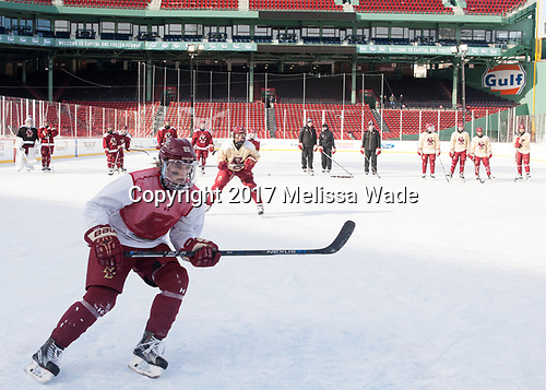 Caroline Ross (BC - 25) - The Boston College Eagles practiced at Fenway on Monday, January 9, 2017, in Boston, Massachusetts.Caroline Ross (BC - 25) - The Boston College Eagles practiced at Fenway on Monday, January 9, 2017, in Boston, Massachusetts.