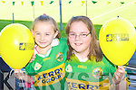 Michelle and Orla Murphy Headford with their Kerry's Eye balloons which added colour to the Kerry team training in Fitzgerald Stadium, Killarney on Saturday...