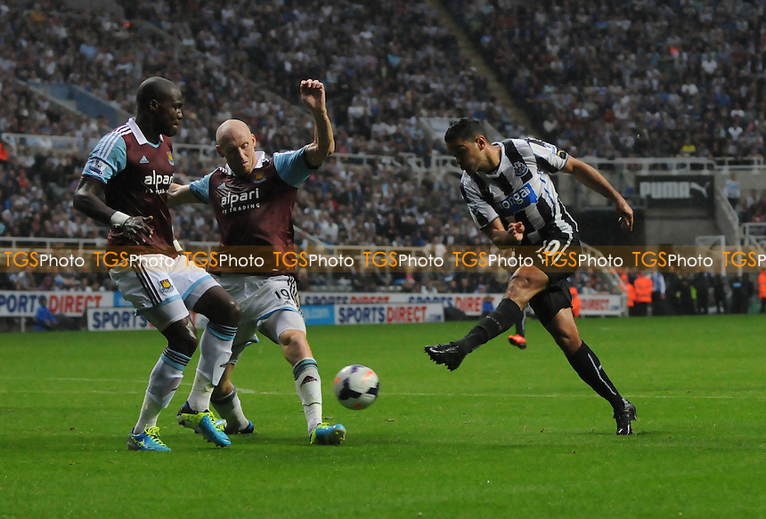 Hatem Ben Arfa of Newcastle United shoots - Newcastle United vs West Ham United - Barclays Premier League Football at St James Park, Newcastle upon Tyne - 24/08/13 - MANDATORY CREDIT: Steven White/TGSPHOTO - Self billing applies where appropriate - 0845 094 6026 - contact@tgsphoto.co.uk - NO UNPAID USE