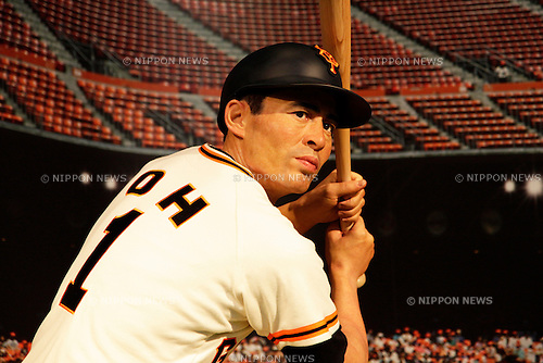 March 13, 2013, Tokyo, Japan - The wax figure of Sadaharu Oh,  who was a great Japanese Baseball Player and holds the world career home run record, is displayed during a media briefing for the opening of the Madame Tussauds Tokyo wax museum in Odaiba, Tokyo, March 13 , 2013. .The Madame Tussauds Tokyo, which is the 14th permanent branch of the world famous British wax museum, will open to public on March 15, 2013. As well as international celebrities and royalty the Japanese museum also features local soccer star Kazuyoshi Miura..