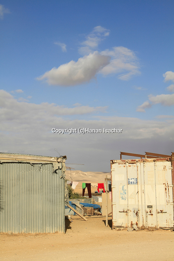 Israel, the unrecognized Bedouin village Beer Mashash in the Negev