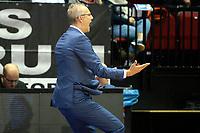 GRONINGEN - Basketbal, Donar - ZZ Leiden, Supersup, seizoen 2018-2019, 06-10-2018,  fel meelevende Leiden coach  Rolf Franke