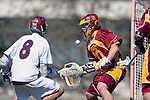 Los Angeles, CA 02/20/10 - Alex Rice (USC # 20) and \L8\  in action during the USC-Loyola Marymount University MCLA/SLC divisional game at Leavey Field (LMU).  LMU defeated USC 10-7.