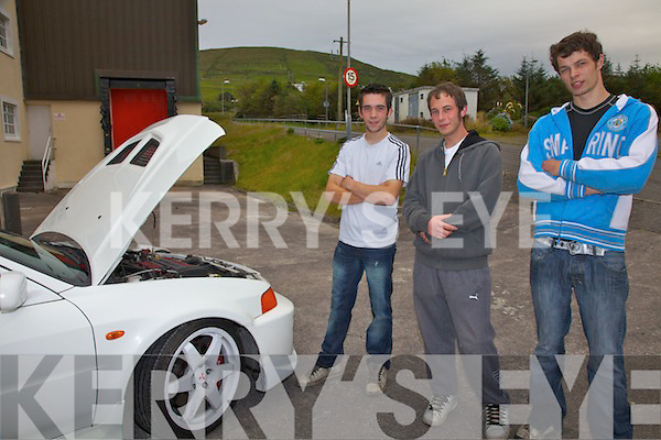 REF SINEAD....Some of the faces behind the successful AMF Slideways Performance held in Cahersiveen on Saturday night, pictured here l-r; Alan Cournane, Francois Clees & Mathew Beardges.