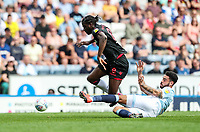 Bolton Wanderers' Clayton Donaldson competing with Blackburn Rovers' Derrick Williams <br /> <br /> Photographer Andrew Kearns/CameraSport<br /> <br /> The EFL Sky Bet Championship - Blackburn Rovers v Bolton Wanderers - Monday 22nd April 2019 - Ewood Park - Blackburn<br /> <br /> World Copyright © 2019 CameraSport. All rights reserved. 43 Linden Ave. Countesthorpe. Leicester. England. LE8 5PG - Tel: +44 (0) 116 277 4147 - admin@camerasport.com - www.camerasport.com