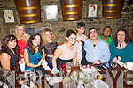 Denise Collins and Ciara Mangan(Glamour), Josephine Windle-Keane(Hair Gallery), Sheila Enright(Glamour) and Aurelije Dobravalskyte, Namir Karim, Abraham Lur and Siobhan Long(Scribes) pictured here last Saturday night where traders and business's from Church Street, Listowel  came together for a special Christmas party in Allos Restaurant, Listowel.