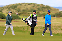 Brandon Grace (RSA) and Tommy Fleetwood (ENG) on the 16th fairway during Round 3 of the Alfred Dunhill Links Championship 2019 at St. Andrews Golf CLub, Fife, Scotland. 28/09/2019.<br /> Picture Thos Caffrey / Golffile.ie<br /> <br /> All photo usage must carry mandatory copyright credit (© Golffile | Thos Caffrey)
