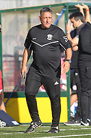 Tom Loizou manager of Haringey during Haringey Borough vs Poole Town, Emirates FA Cup Football at Coles Park Stadium on 20th October 2018