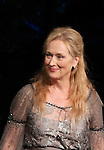 Meryl Streep.pictured during Curtain Call for the Public Theater Celebrates 50 Years at the Delacorte Theater with a Benefit Reading of ''Romeo And Juliet'  in Central Park, New York City on June 18, 2012