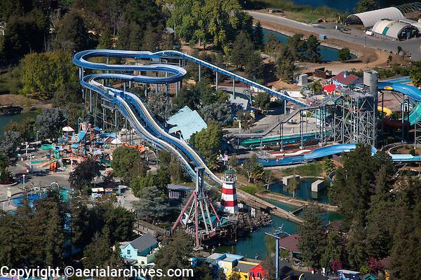 aerial photograph California's Great America amusement park, Santa Clara, California