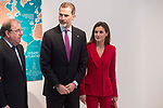 King Felipe VI of Spain and Queen Letizia of Spain attends to Institutional act in commemoration of the capitulations of Valladolid, during the V Centar of the Expedition of the first round of the World of Fernando de Magallanes and Juan Sebastian Elcano in Valladolid , Spain. March 21, 2018. (ALTERPHOTOS/Borja B.Hojas)