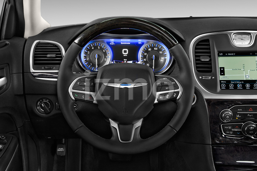 Car pictures of steering wheel view of a 2017 Chrysler 300 C 4 Door Sedan Steering Wheel