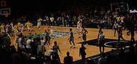 The Marquette Golden Eagles celebrate defeating  the LSU Tigers 81 to 80 at the Fan Duel Legends Classic at the Barclay Center in Brooklyn on November 23,
