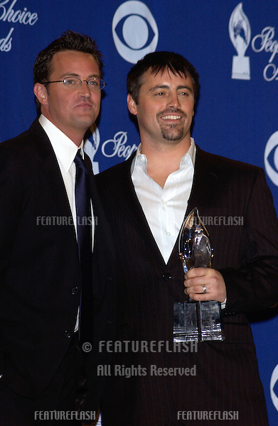 MATTHEW PERRY (left) & MATT LEBLANC at the 30th Annual People's Choice Awards in Pasadena, CA..January 11, 2004