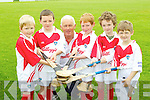 Pictured at the Ballyheigue Hurling Cúl Camp on Friday, from left: Eoin Stack, Shane Lawless, Maurice Leahy, Darragh Donnelly, Seamus Lucey and Padraig Kenny..