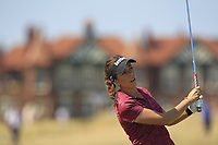 Georgia Hall (ENG) on the 2nd fairway during Round 4 of the Ricoh Women's British Open at Royal Lytham &amp; St. Annes on Sunday 5th August 2018.<br /> Picture:  Thos Caffrey / Golffile<br /> <br /> All photo usage must carry mandatory copyright credit (&copy; Golffile | Thos Caffrey)
